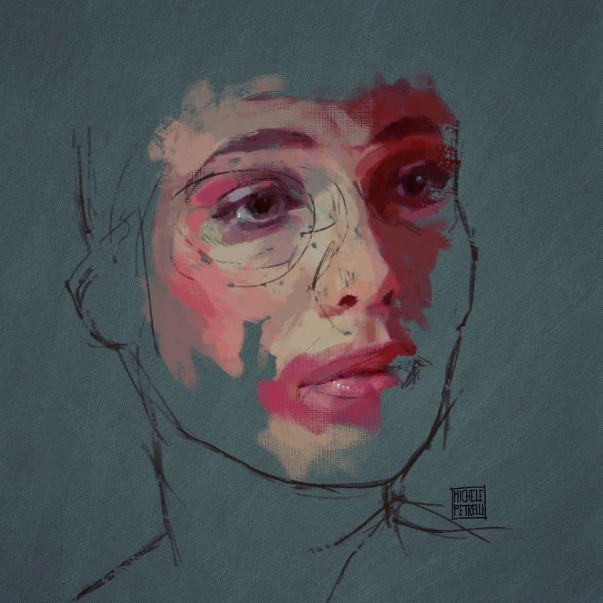 Portrait 171 mixed on canvas