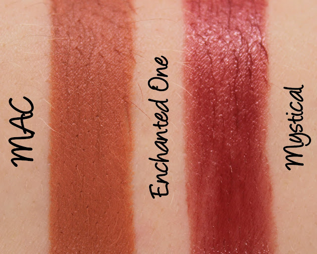 MAC Monday | Alluring Aquatics - Enchanted One & Mystical Lipsticks Swatches & Review