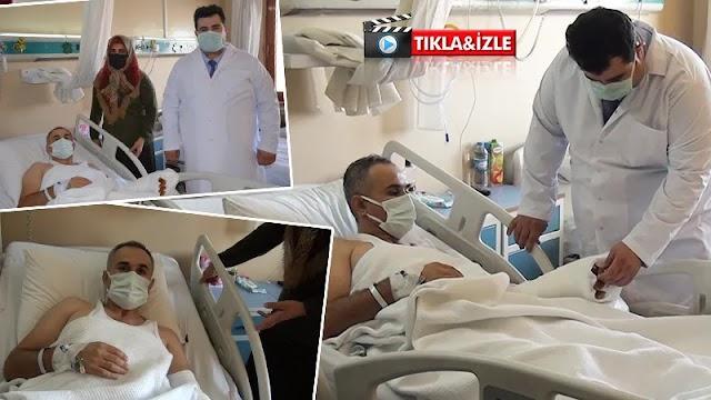 Urfa'da Kolunu makineye kaptıran hastanın eli kurtarıldı