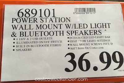 Deal for the Winplus Power Station with Bluetooth Speaker and LED Work Light at Costco