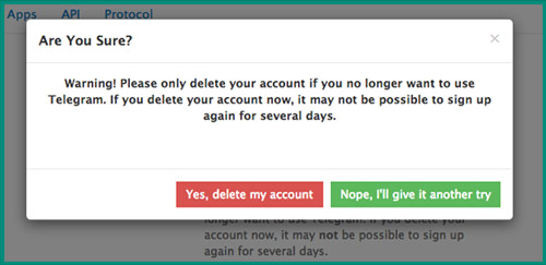 حذف حساب Telegram نهائيا 6