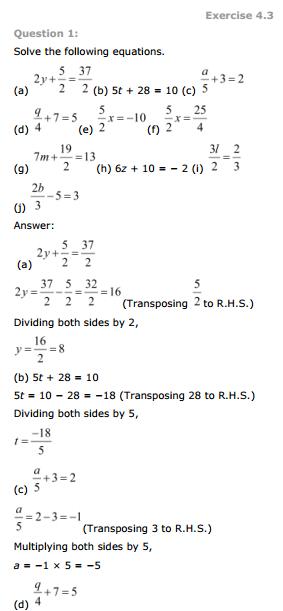 7th Standard Maths Text Book
