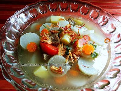 Resep Sayur Sup Lobak