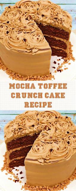 MOCHA TOFFEE CRUNCH CAKE RECIPE