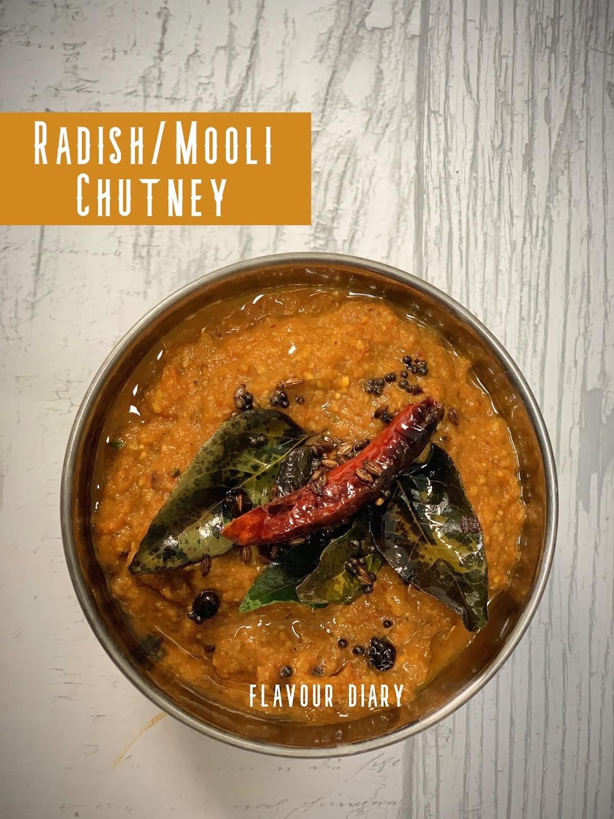 Radish Mooli Mulangi Chutney recipe