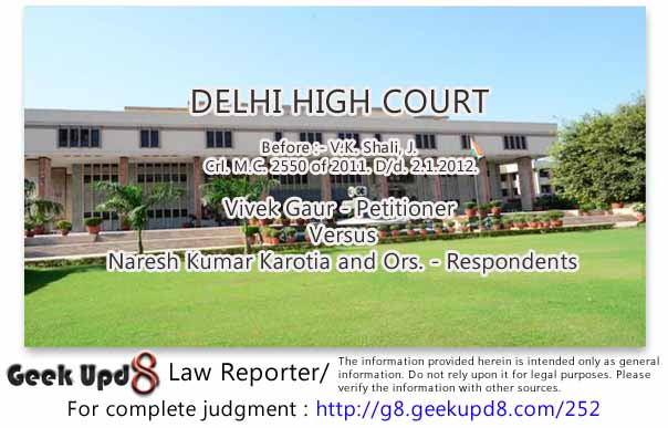 Delhi High Court - A person declared as a Proclaimed Offender may not be denied the benefit of Anticipatory Bail in all circumstances