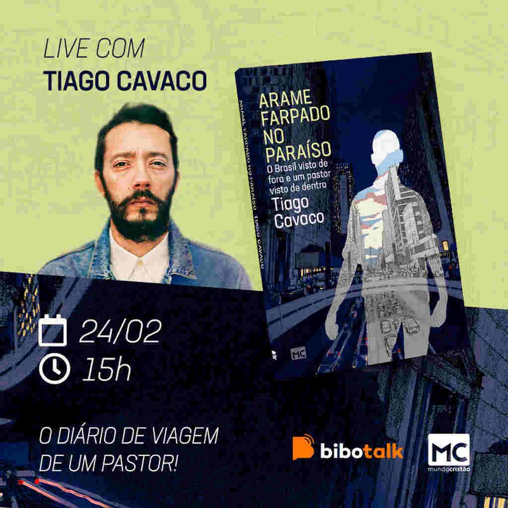 """Para falar sobre o diário de viagem teológico """"Arame farpado no paraíso"""", o autor português Tiago Cavaco estará num bate-papo ao vivo no canal Bibotalk"""
