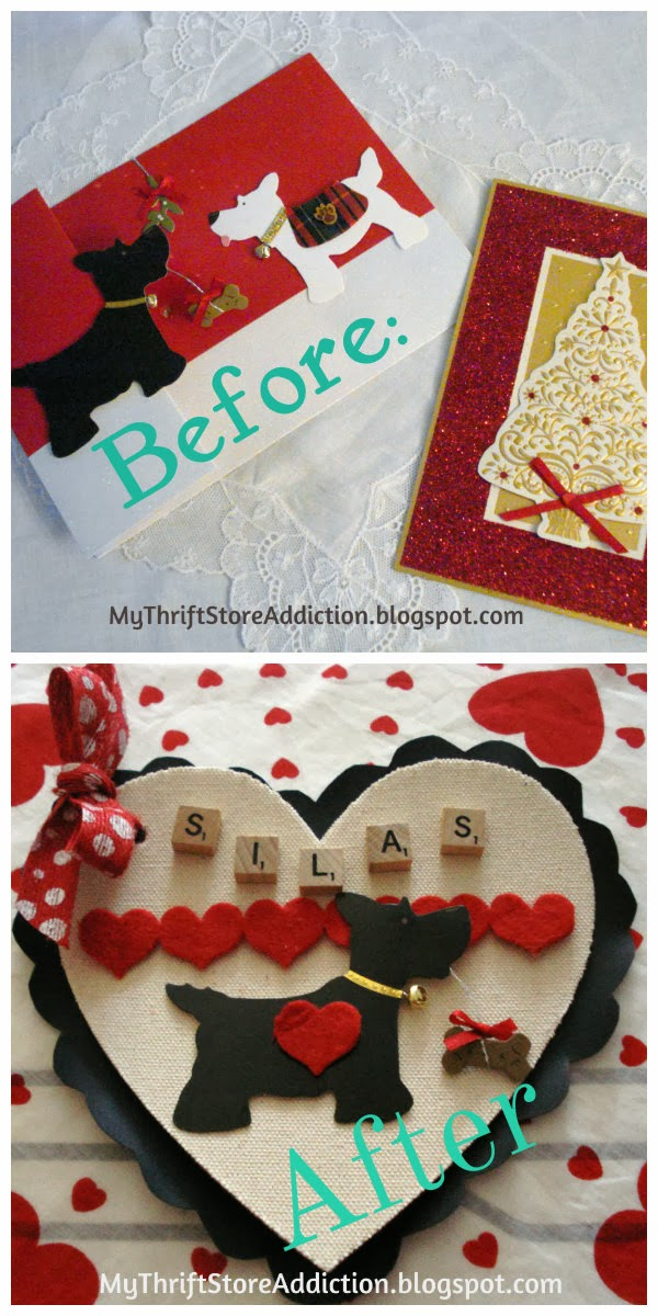 Repurpose Christmas cards as valentines
