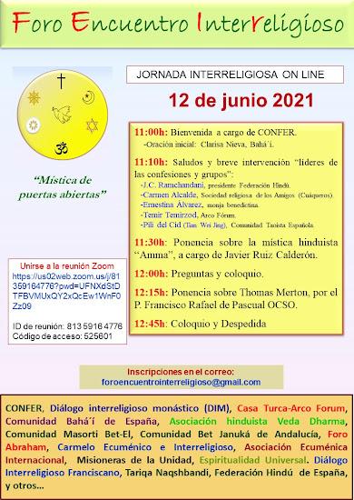 JORNADA INTERRELIGIOOSA ON LINE 2021