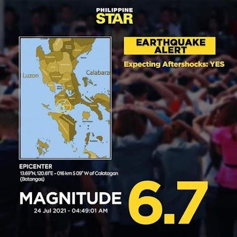 BREAKING NEWS: Powerful Magnitude 6.7 Earthquake Hit Batangas Today