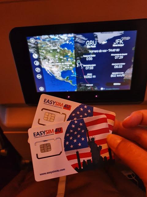 Chip de celular para usar internet em NYC