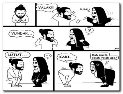 ggambar kartun lucu hitam putih