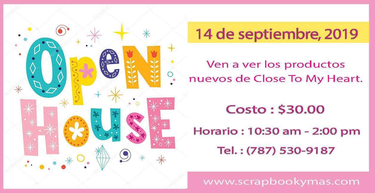 Open House Productos Nuevos de Close To My Heart