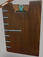 carta de restaurante en madera