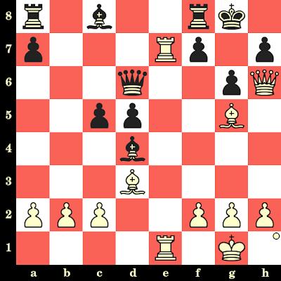 Les Blancs jouent et matent en 4 coups - John Nunn vs TC Fox, Bristol, 1980