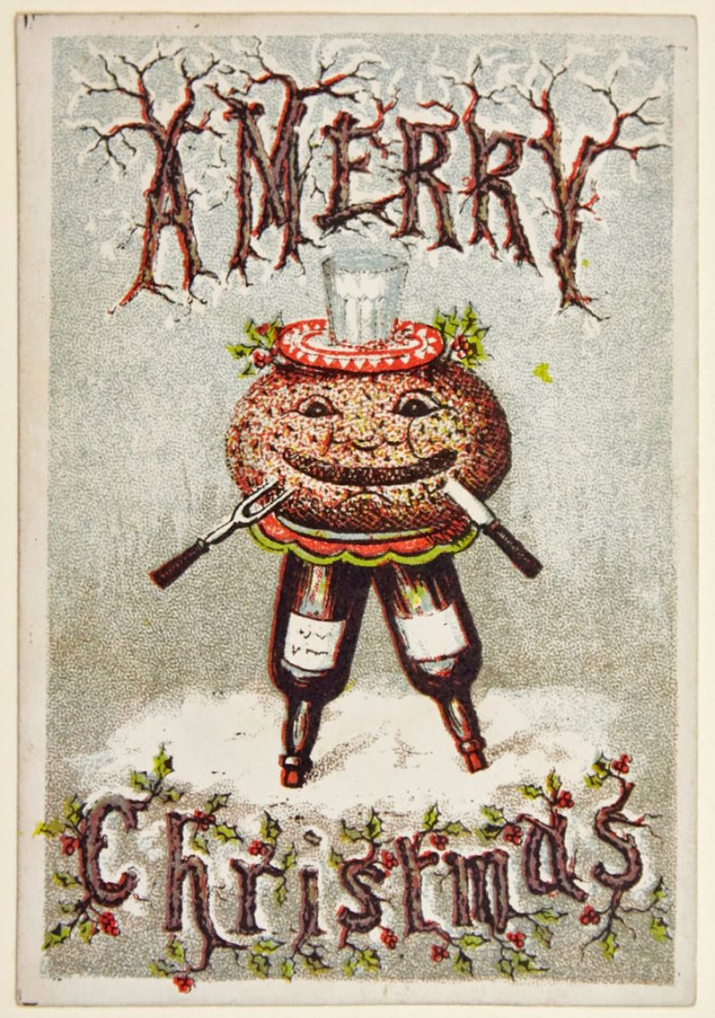 25 Bizarre And Creepy Vintage Christmas Cards From The