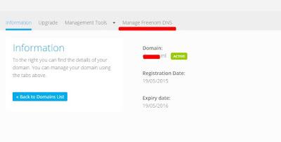 Blogger Setting DNS, CNAME, Domain In Freenom