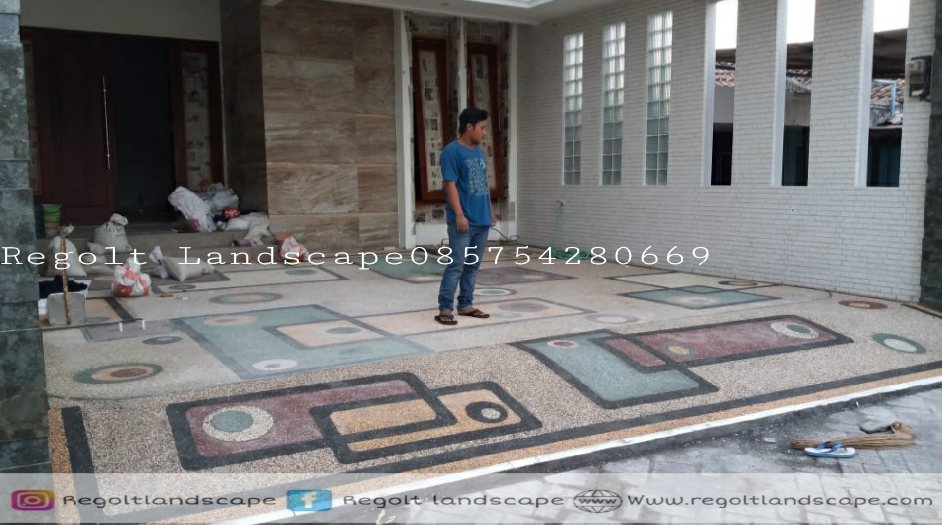 Jasa Tukang Pasang Batu Sikat,Carport Madura