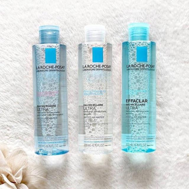 Các sản phẩm nước tẩy trang micellar water của La Roche-Posay