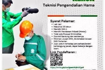 Lowongan Kerja Teknisi Pengendalian Hama Biruni Bandung