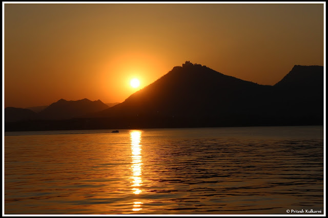 Sunset at Fatehsagar Lake