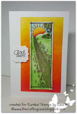 Created In the Crafting Cave with Lisa Eureka! Stamps Sun Path Border