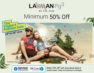 Lawman pg3 Men's Clothing (Jeans, Shirts, TShirts) – Flat 50% Off + Extra 10% Off with SBI Cards