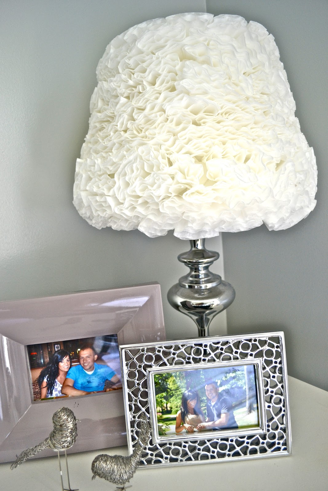What Have They Done To Shade >> Coffee Filter Lamp Shade Liz Marie Blog