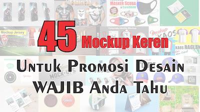 45 Mockup Keren Untuk Promosi