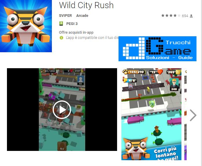Trucchi Wild City Rush Mod Apk Android v1.0.1