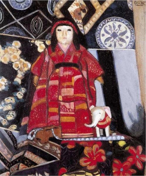 Naturaleza muerta (muñeca japonesa), 1937