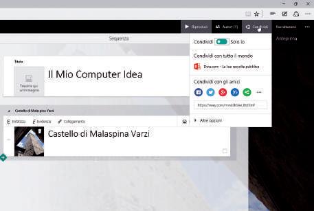 Microsoft Sway: Come funziona condivisione documenti