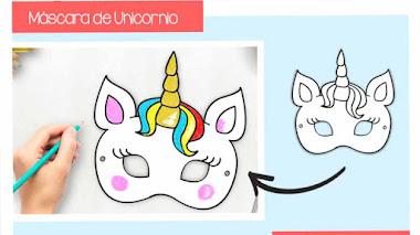 Máscara de unicornio para imprimir 🦄
