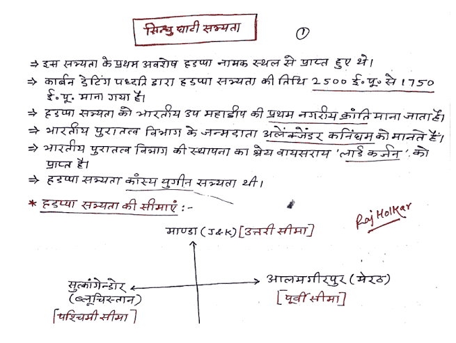 Indian History Hand Written Raj Holkar Notes Hindi Download