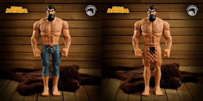 Shirtless Bear-Fighter Vinyl Figure by Skelton Crew Studio – Standard Edition & No Pants Beariant