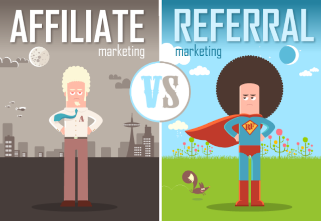 What Is Difference Between Referral And Affiliate Marketing [infographic]