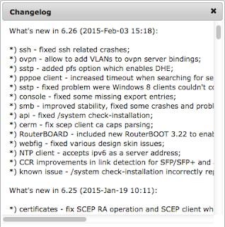 Upgrade dan Downgrade RouterOS