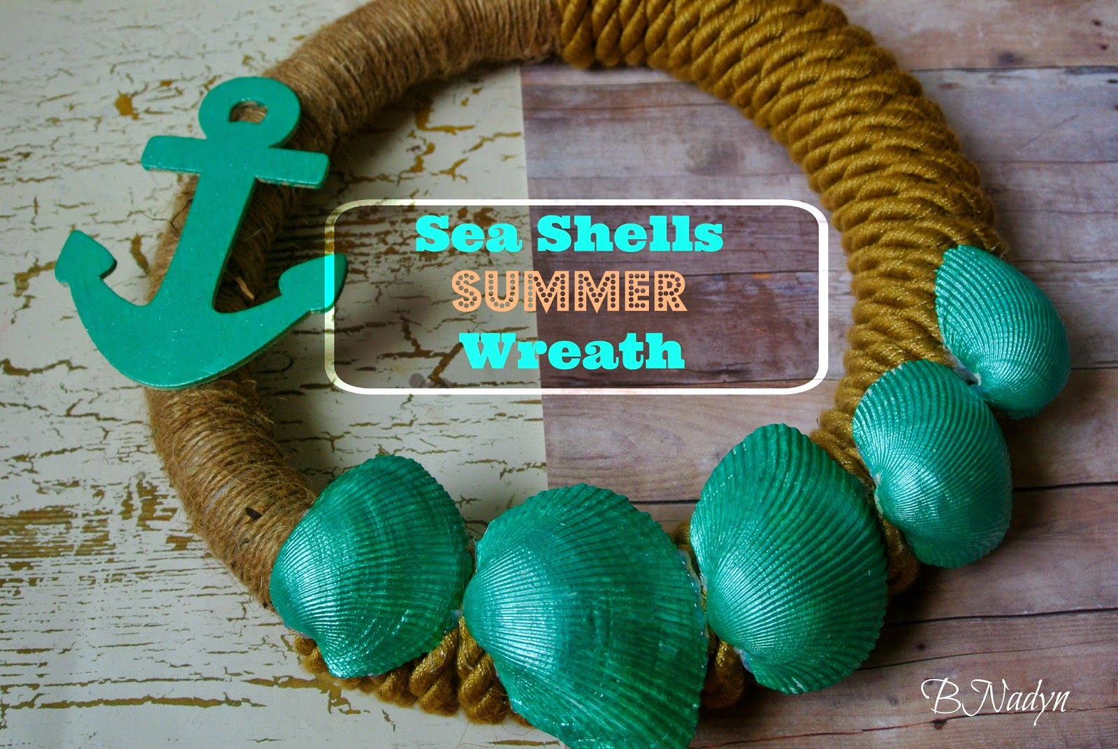 Sea shells decor, summer wreath, diy tutuorial wreath