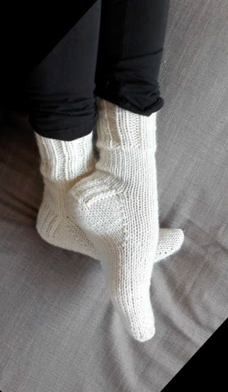 Karn Knits Silja Reggie Toe Up Socks Free Pattern