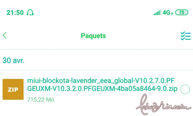 What is The blockota File in MIUI