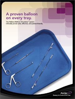 Balloon Sinuplasty - Technique, Indications, Contraindications, Cost and Postoperative Care / Image source: Balloon Sinuplasty - Acclarent, from http://www.acclarent.com