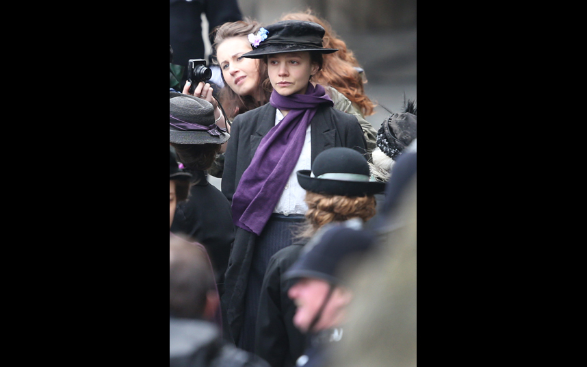 Mulligan is one of a list of famous names appearing in a film about members of the women's suffrage movement, due for release this October. Meryl Streep leads as Emmeline Pankhurst alongside Helena Bonham Carter, Anne-Marie Duff, Brendan Gleeson, Ben Whishaw and Romola Garai.