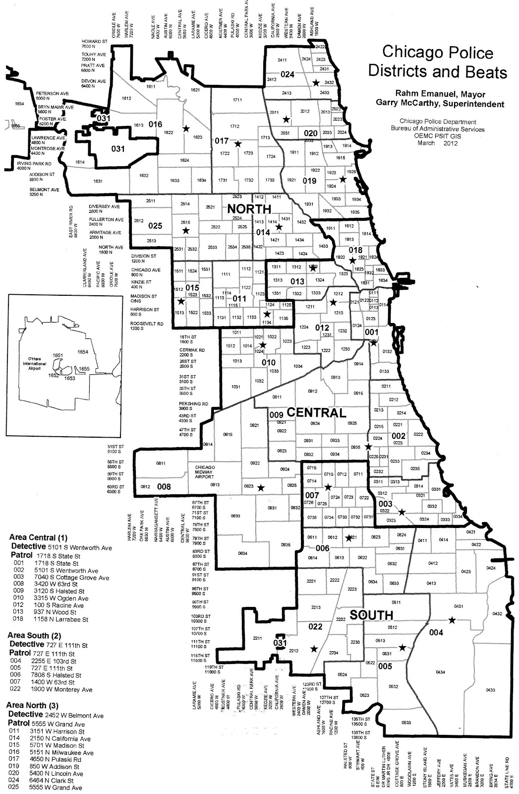 Police Districts Chicago Map