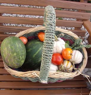 Basket full of Fall Vegetables