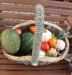 Basket full of Fall Vegetables