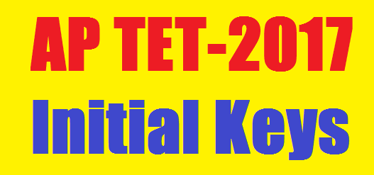 Andhra Pradesh Teacher Eligibility Test-2017 Initial Keys