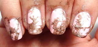 Gold Splatter Nails
