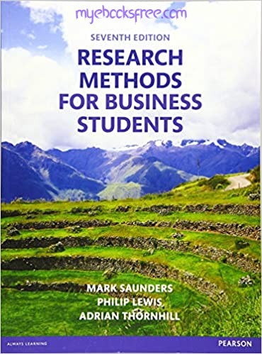 Research Methods For Business Students Pdf Book 7e by Saunders, Lewis, Thornhill