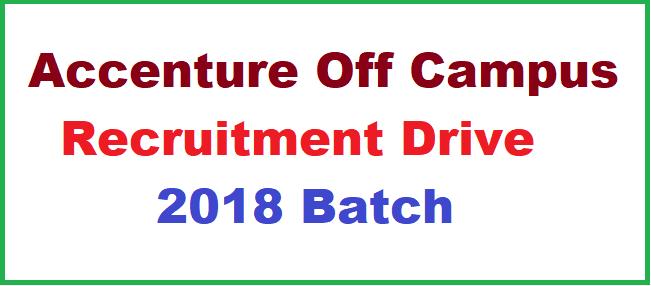 Accenture Off Campus Recruitment Drive | BE/BTech/MCA