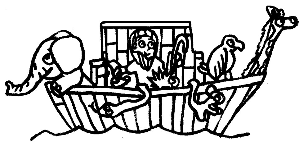LDSFiles Clipart: Noah and the Ark Coloring Page
